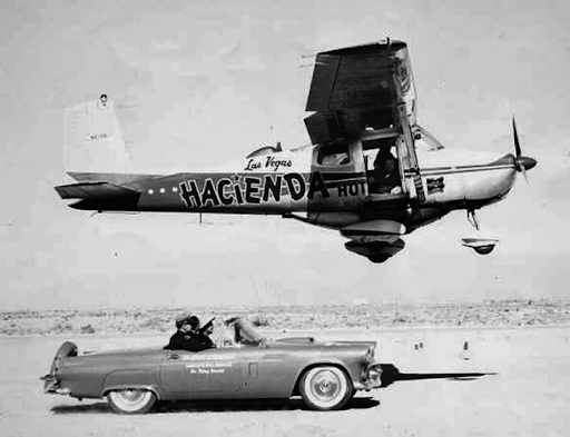 Encouragement from Ford Thunderbird for flight endurance record