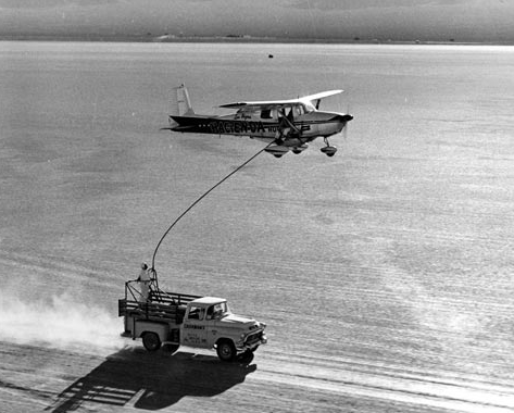 Refueling Cessna by truck