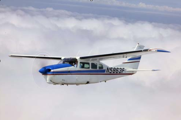 Cessna 210 at high altitude